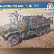 Maquetas: CAMION AMERICANO BLINDADO U.S. ARMOURED GUN TRUCK REF 6503 ESCALA 1:35 DE ITALERI. Lote 268782219