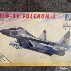 Maquetas: MIG-29 A FULCRUM 1:72 ITALERI 184 MAQUETA AVIÓN. Lote 268799929