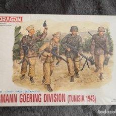 Maquetas: HERMANN GOERING DIVISIÓN (TUNISIA 1943) 1:35 DRAGÓN 6036 MAQUETA FIGURAS CARRO AFRICA CORPS AFRIKA. Lote 268916019