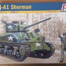 Maquetas: TANQUE AMERICANO M4-A1 SHERMAN REF 225 ESCALA 1:35 ITALERI. Lote 268922204