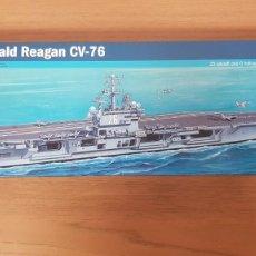 Maquetas: MAQUETA NAVAL PORTAAVIONES USA U.S.S. RONALD REAGAN CV-76 REF 5533 ESCALA 1:720 ITALERI. Lote 269170673