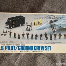 Macchiette: U.S. PILOT/ GROUND CREW SET 1:72 HASEGAWA X72-7 MAQUETA PILOTOS MECANICOS AVION. Lote 269228098