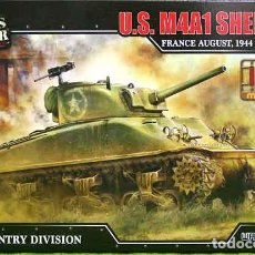 Maquetas: MAQUETA DEL CARRO DE COMBATE NORTEAMERICANO M4A1 SHERMAN DE FORCES OF VALOR A ESCALA 1/72. Lote 269621888