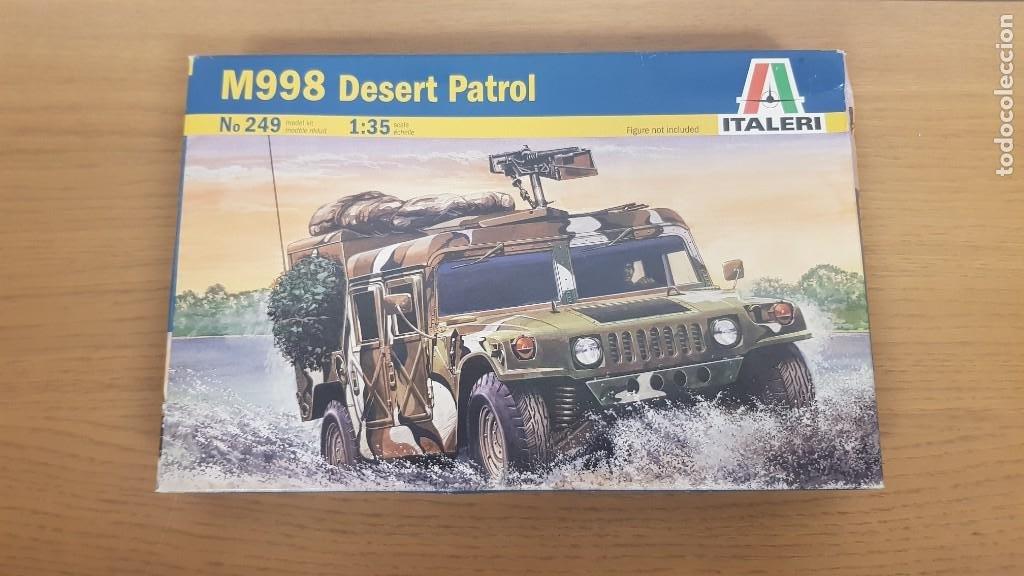 VEHICULO MILITAR DE TRANSPORTE AMERICANO HUMMER M998 DESERT PATROL DE REF 249 ESCALA 1:35 DE ITALERI (Juguetes - Modelismo y Radiocontrol - Maquetas - Militar)