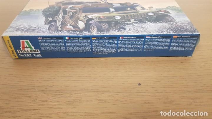 Maquetas: Vehiculo militar de transporte americano hummer M998 desert patrol de ref 249 escala 1:35 de italeri - Foto 2 - 269770653