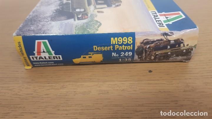 Maquetas: Vehiculo militar de transporte americano hummer M998 desert patrol de ref 249 escala 1:35 de italeri - Foto 4 - 269770653