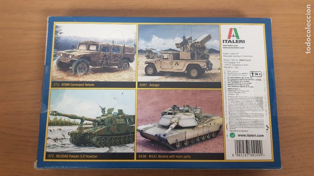 Maquetas: Vehiculo militar de transporte americano hummer M998 desert patrol de ref 249 escala 1:35 de italeri - Foto 7 - 269770653