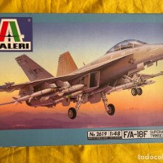 Maquetas: F/A 18F SUPERHORNET TWINSEATER SÚPER HORNET 1:48 ITALERI 2619 MAQUETA AVION. Lote 269818698