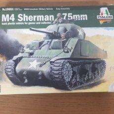 Maquetas: TANQUE AMERICANO M4 SHERMAN 75MM WWII ESCALA 1:56 REF 15651 DE ITALERI. Lote 269991728