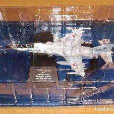 Macchiette: MAQUETA DEL CAZA JAPONÉS MITSUBISHI F-1 DE SALVAT A ESCALA 1/100 (METAOL, PINTADA). Lote 272469373