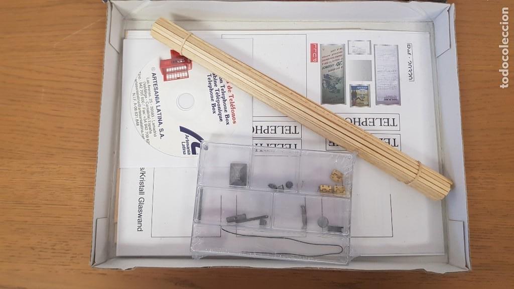 Maquetas: Maqueta en madera cabina telefonica inglesa ref 20320 escala 1:10 artesania latina incompleta - Foto 7 - 274555178