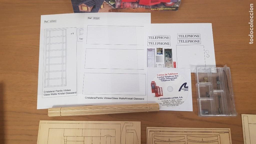 Maquetas: Maqueta en madera cabina telefonica inglesa ref 20320 escala 1:10 artesania latina incompleta - Foto 8 - 274555178