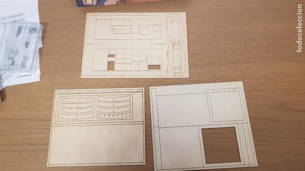 Maquetas: Maqueta en madera cabina telefonica inglesa ref 20320 escala 1:10 artesania latina incompleta - Foto 10 - 274555178