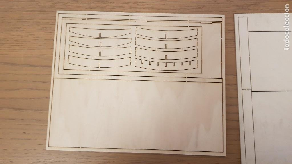 Maquetas: Maqueta en madera cabina telefonica inglesa ref 20320 escala 1:10 artesania latina incompleta - Foto 11 - 274555178