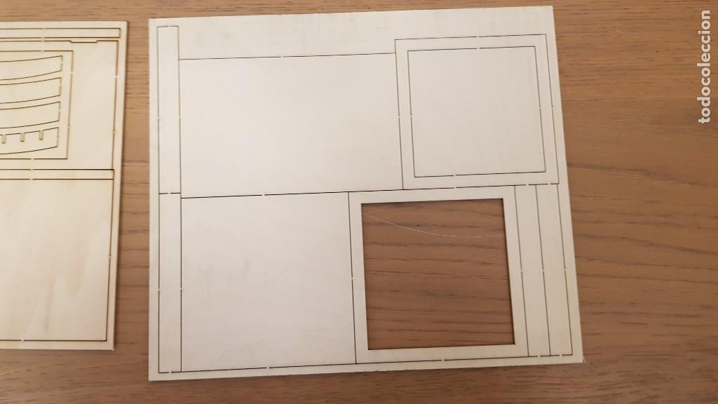 Maquetas: Maqueta en madera cabina telefonica inglesa ref 20320 escala 1:10 artesania latina incompleta - Foto 12 - 274555178