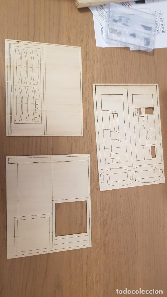 Maquetas: Maqueta en madera cabina telefonica inglesa ref 20320 escala 1:10 artesania latina incompleta - Foto 14 - 274555178
