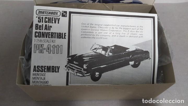 Maquetas: 51 Chevy Bel air convertible. Matchbox 1/25. Nuevo, todo precintado - Foto 3 - 274686348