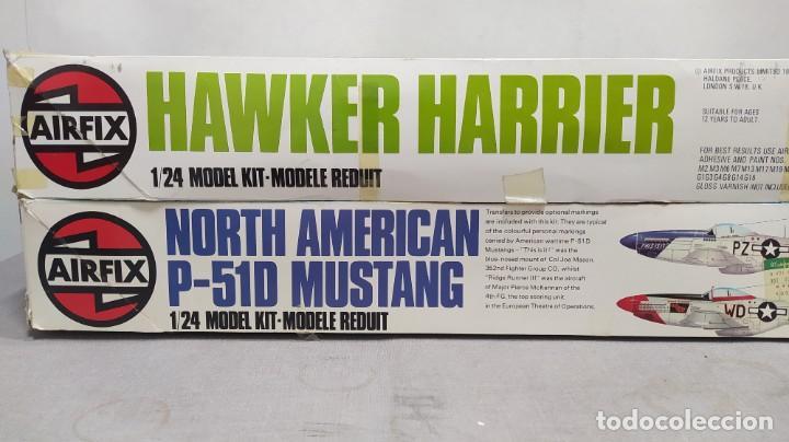 HAWKER HARRIER + NORTH AMERICAN P-51D MUSTANG 1/24 AIRFIX. NUEVOS SIN MONTAR. (Juguetes - Modelismo y Radio Control - Maquetas - Aviones y Helicópteros)