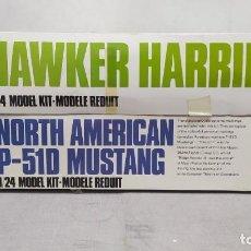 Maquetas: HAWKER HARRIER + NORTH AMERICAN P-51D MUSTANG 1/24 AIRFIX. NUEVOS SIN MONTAR.. Lote 275880963