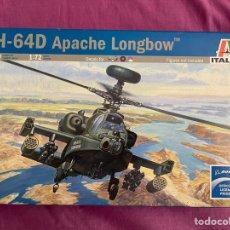 Maquetas: AH-64D APACHE LONGBOW 1:72 ITALERI 080 MAQUETA HELICOPTERO AVION. Lote 276769908