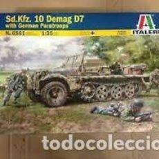 Maquetas: ITALERI - SD.KFZ. 10 DEMAG 7 WITH GERMAN PARATROOPS 1/35 6561. Lote 277043353