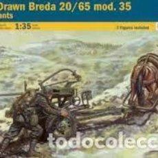 Maquetas: ITALERI - BREDA 20/65 MOD.35 WITH CREW 1/35 6464. Lote 277043483