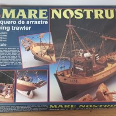 Maquetas: MAQUETA EN MADERA DEL BARCO PESQUERO DE ARRASTRE MARE NOSTRUM ESCALA 1:35 REF 20100 ARTESANIA LATINA. Lote 277136278