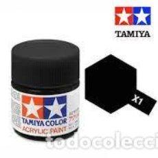 Macchiette: TAMIYA - X1 NEGRO BRILLO. Lote 277159193