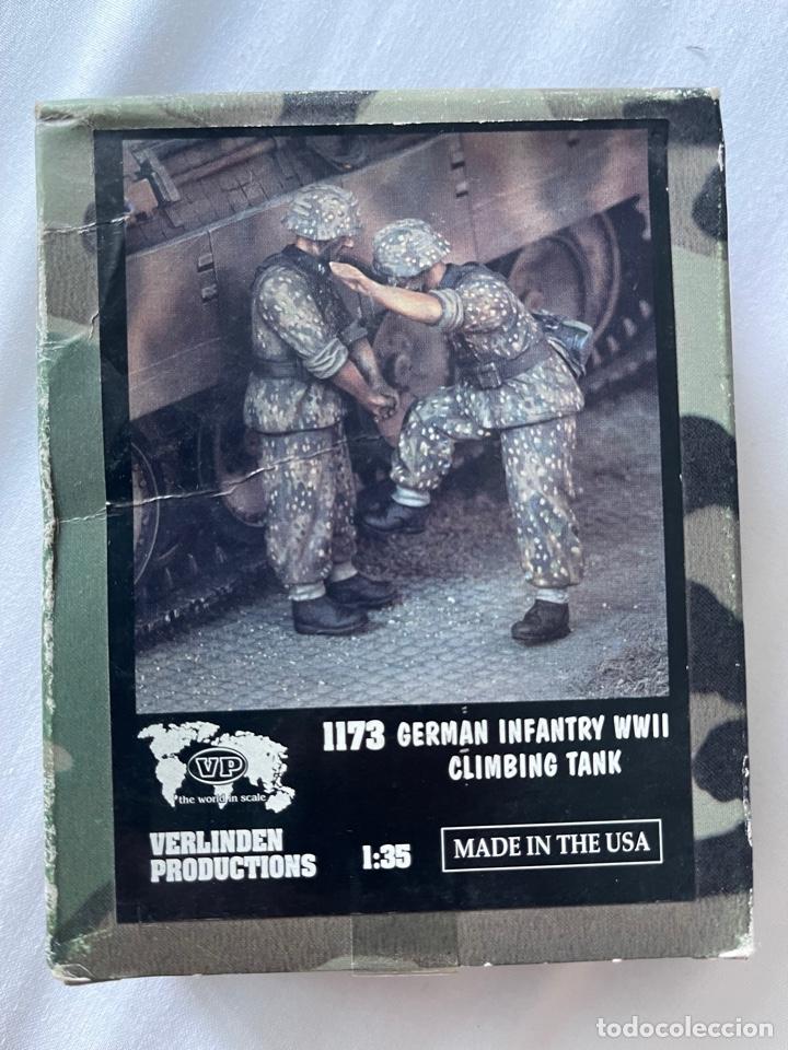 GERMÁN INFATRY WWII CLIMBING TANK 1:35 VERLINDEN 1173 MAQUETA FIGURAS CARRO TANQUE (Juguetes - Modelismo y Radiocontrol - Maquetas - Militar)