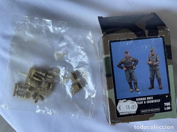Maquetas: Germán WWII Pilot & Crewchief 1:35 VERLINDEN 780 maqueta figuras avion 1:32 - Foto 3 - 277191298