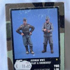 Maquetas: GERMÁN WWII PILOT & CREWCHIEF 1:35 VERLINDEN 780 MAQUETA FIGURAS AVION 1:32. Lote 277191298