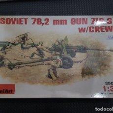 Maquetas: MAQUETA SOVIET 76,2 M,M GUN W/CREW MINIART. Lote 277536113