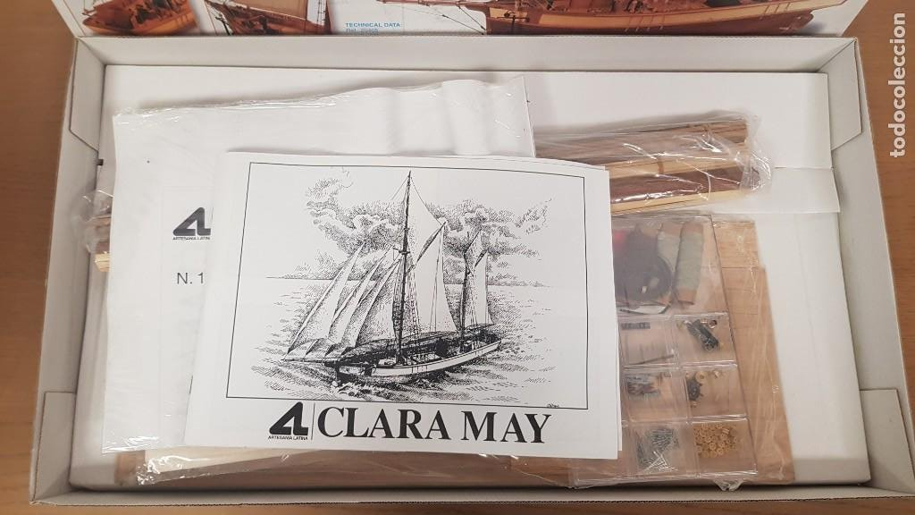 Maquetas: Maqueta barco en madera clara may english ketch escala 1:50 ref 20405 del 2002 artesania latina - Foto 6 - 277552248
