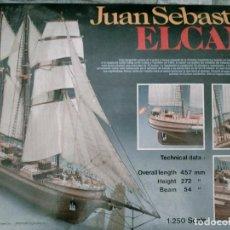 Maquetas: JUAN SEBASTIANO EL CANO 1-250 SCALE DE MADERA. Lote 277600858