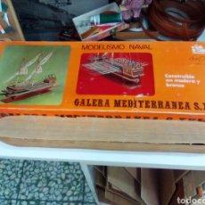 Maquetas: GALERA MEDITERRÁNEA CAJA VACÍA Y CASCO ENVÍO INCLUIDO. Lote 277608213