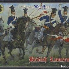 Maquetas: MAQUETA FIGURAS BRITÁNICOS, LANCEROS, GUERRA DE CRIMEA, REF. 0036, 1/72, STRELETS. Lote 278803478