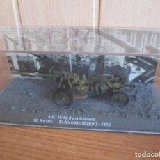 Maquettes: PANZER: LOS BLINDADOS ALEMANES DE LA SEGUNDA GUERRA MUNDIAL (ALTAYA) 1/72 - S.K. 18 10.5 CM KANONE. Lote 279471543
