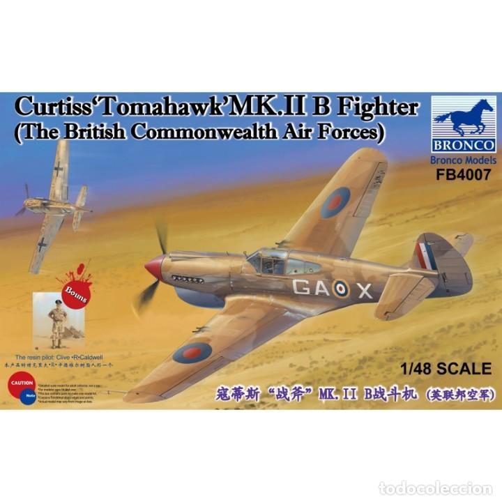 BRONCO FB4007 # 1:48 CURTISS TOMAHAWK MK.II B FIGHTER (Juguetes - Modelismo y Radio Control - Maquetas - Aviones y Helicópteros)