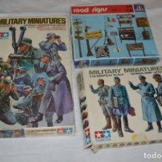 Maquetas: VINTAGE LOTE DE 3 SET / ITALERI Y TAMIYA / MINIATURAS MILITARES / ESCALA 1/35 - 1:35 - ¡MIRA FOTOS!. Lote 283747983