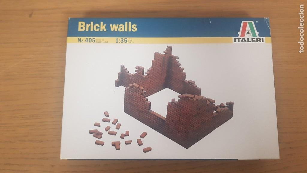 CAJA DE MURO DERRIBADO O BRICK WALLS REF 405 ESCALA 1:35 ITALERI (Juguetes - Modelismo y Radiocontrol - Maquetas - Construcciones)
