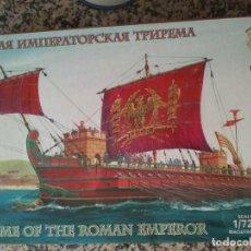 Maquetas: TRIREME OF THE ROMAN EMPEROR (ZVEZDA 9019) Y ROMAN TIRREME (BUM 0125) -- 1/72 (D0S NAVIOS). Lote 287672593