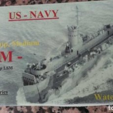 "Maquetas: DOS LSM ""LANDING SHIP, MEDIUM ""LANDUNGSSCHIFF TYP LSM"" - HP MODELS WWII-WL-US-054. Lote 287710258"