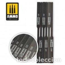 Maquetas: AMMO - SANDING STICKS GRANO 120,180,240,320,1200,1500 AMIG 8567. Lote 288095118
