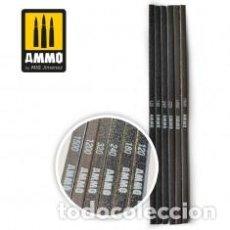Maquetas: AMMO - SANDING STICKS GRANO 120,180,240,320,1200,1500 AMIG 8568. Lote 288095608