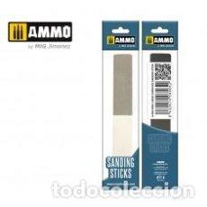 Maquetas: AMMO - SANDING STICKS LARGE SURFACE 3 TIPOS DISTINTOS DE LIMA AMIG8565. Lote 288096883