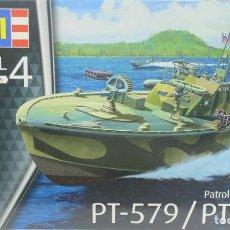 Maquetas: MAQUETA LANCHA TORPEDERA PT-579 / PT-588, REF. 01565, 1/72, REVELL. Lote 288230713