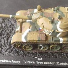 Maquetas: T-54 CHECOESLOVAQUIA. METAL ALTAYA ESCALA 1/72. Lote 288340408