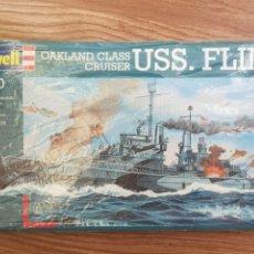 Maquetas: MAQUETA BARCO. REVELL. 1:700. OKLAND CLASS CRUISER USS. FLINT. Lote 288472013