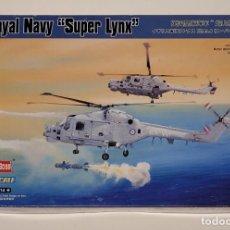 Maquetas: HOBBY BOSS- HELICÓPTERO ROYAL NAVY 'SUPER LYNX' CON LA REFERENCIA 87238, ESCALA 1/72. Lote 288565558