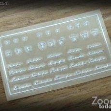 Maquetas: ZOON ON - LAMBORGHINI LOGO METAL STICKER 1/24 ZD023. Lote 288583688